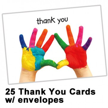 Thank You Cards - Hands   Spread the Word  TM (25 per set)