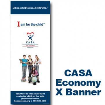 CASA Middle School - X-Banner 63 x 24