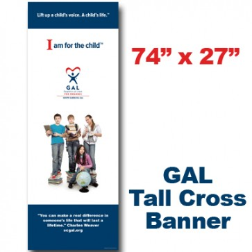 GAL Middle School Kids Cross Banner  (74x27)
