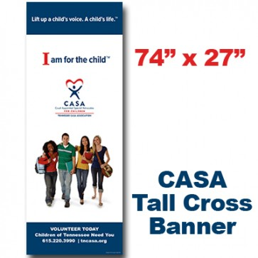 CASA Teens Cross Banner (74x27)