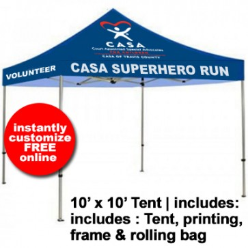 CASA Full Color Tent 10' x 10'
