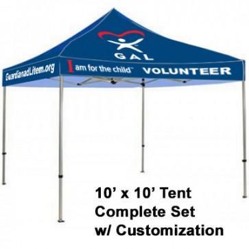 GAL Full Color Tent 10' x 10'