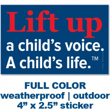 Lift Up Bumper Sticker