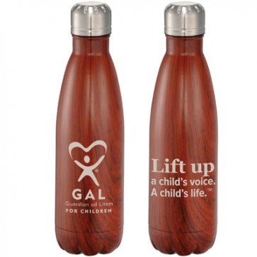 GAL Native Wooden Copper Vacuum Insulated Bottle 17oz