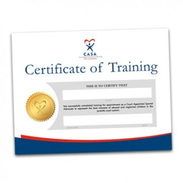 CASA Certificate of Training