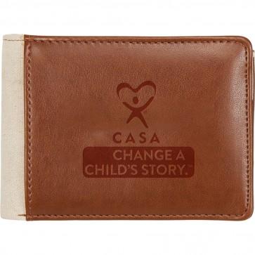 Huna Lea Cotton Bi-Fold Travel Wallet