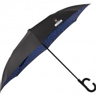 "48"" Designer Inside-Out Umbrella with a 2-color imprint"