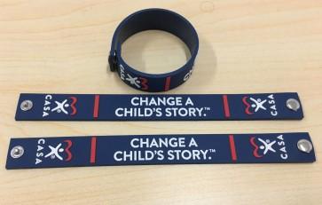 Change a Child's Story - SOFT PVC SNAP BRACELET 3D