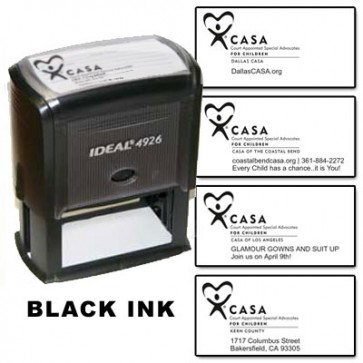 CASA Custom Rubber Stamp  (Black Ink)