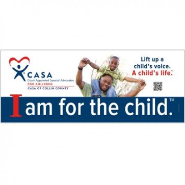 Lift Up a Child Banner with custom QR Code