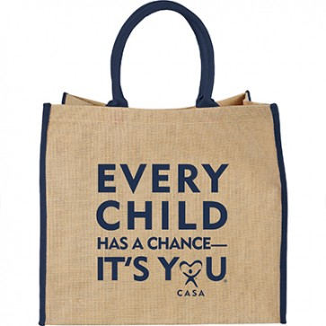 ECHAC Burlap Jute Tote - Cream, Navy and Black are on Backorder until 8/26/19