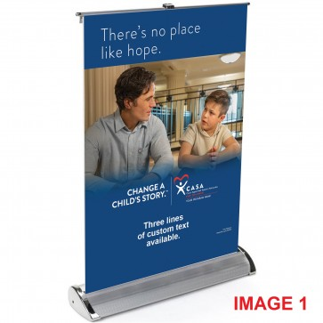 """Table Top Retractable Banner (17"""" X 12"""")"""