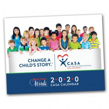 2020 CASA or GAL More Than Words™ Calendar (Customizable)