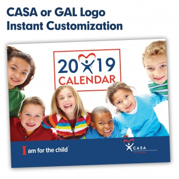 2019 CASA or GAL More Than Words™ Calendar (Instant Customization)
