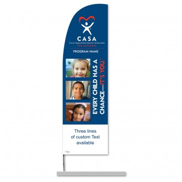 Every Child has a Chance Feather Banner