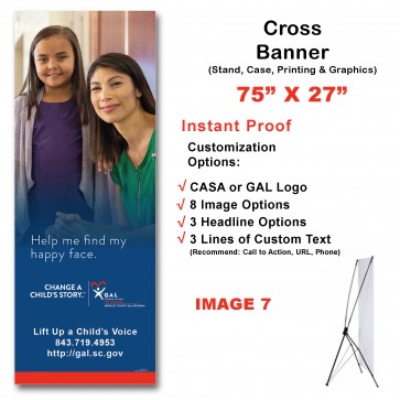 Change a Child's Story ™  Cross Banner (74x27)