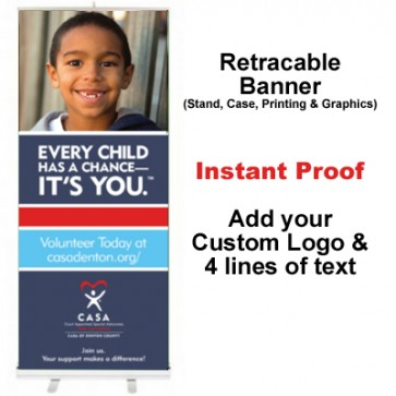 Boy Grinning Retractable Banner (Every Child)