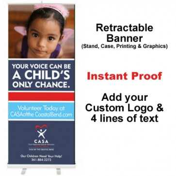 Girl Purple Tank Retractable Banner (Your Voice)