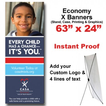 Boy Grinning X Banner (63 X 24)