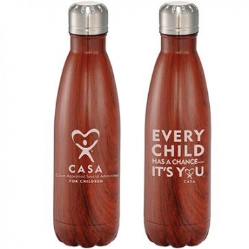 ECHAC Native Wooden Copper Vacuum Insulated Bottle 17oz
