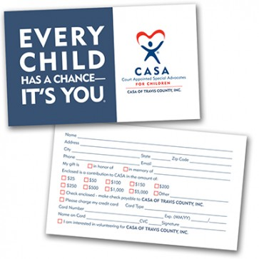 Every Child Has a Chance Donation Card (custom)