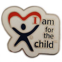 I am for the child lapel pin