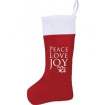 PEACE, LOVE & JOY Felt Stocking