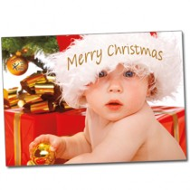 Customizable Merry Christmas CASA baby Cards