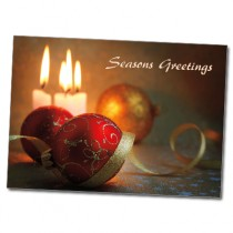 Customizable Seasons Greetings Ornament Cards