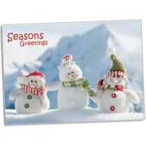 Christmas Card - Seasons Greetings (Happy SnowPeople) (25 per set) Spread the Word TM