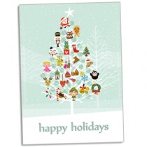 Christmas Card - Happy Holidays (Tree full of Ornaments) (25 per set) Spread the Word TM