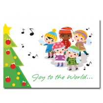 Christmas Card - Children Singing Joy to The World (25 per set) Spread the Word  TM