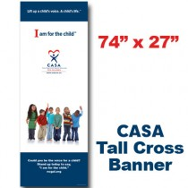 CASA Young Kids Cross Banner (74x27)