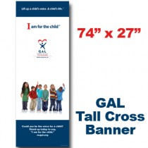 GAL Young Kids Cross Banner (74x27)