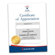 CASA Appreciation Certificate