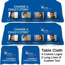 CUSTOMIZABLE Tablecloth - Change a Child's Story (CASA/Guardian ad Litem/GAL) With Kids Photos