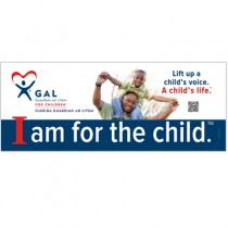 GAL Lift Up a Child Banner with custom QR Code