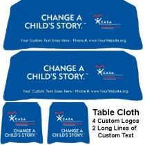 Throw Tablecloth - Change a Child's Story™ without kids images (CASA/Guardian ad Litem/GAL)