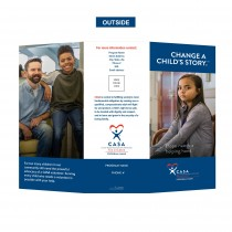 Change a Child's Story Brochure (Custom Logo, Contact & QrCode)
