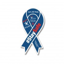 COVID Stay Safe Ribbon Car Magnet
