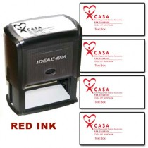 CASA Custom Rubber Stamp  (Red Ink)