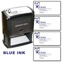 CASA Custom Rubber Stamp  (Blue Ink)