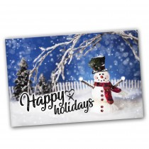 CUSTOMIZABLE Happy Holidays Snowman Card Spread the Word  - BOGO SALE /  UP TO 500 Cards