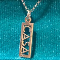 Sterling Silver CASA Charm Necklace