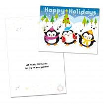 Happy Holidays Penguin Card (25 per set) Spread the Word  TM