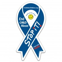 Awareness Ribbon Car Magnet (Large) STOP iT!