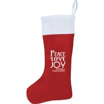 Peace Love and Joy Felt Stocking