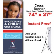 Girl Purple Tank Cross Banner (74x27)