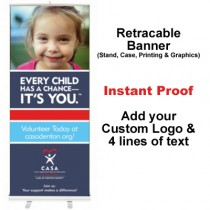 Girl Pink Shirt Retractable Banner (Every Child)