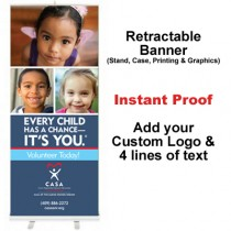 3 Kids Retractable Banner (Every Child)